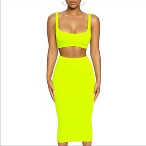 NW Tank me later skirt set